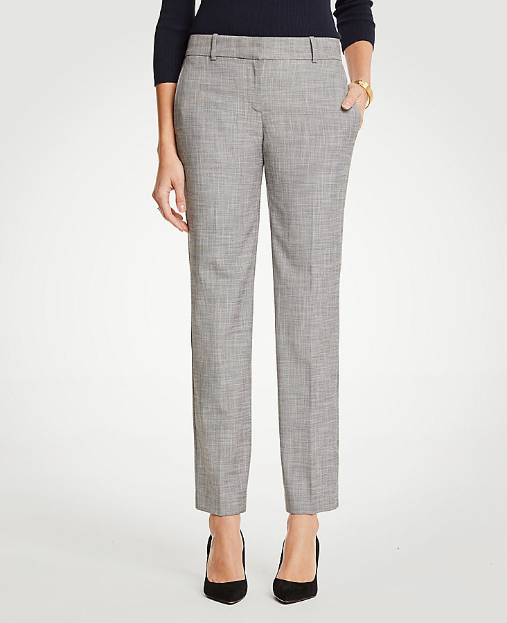 The Petite Trouser In Crosshatch - Curvy Fit | Tuggl