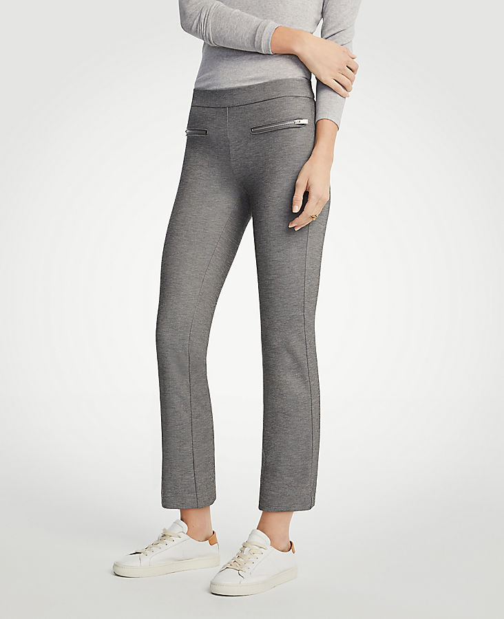 Petite Zip Pocket Kick Crop Leggings