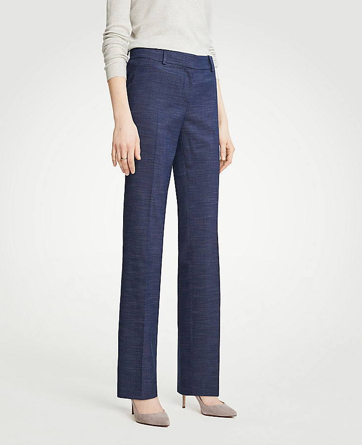 The Petite Straight Leg Pant In Textured Stretch