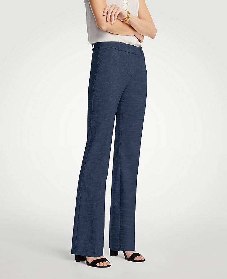 The Petite Trouser In Textured Stretch - Curvy Fit