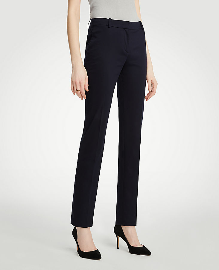 The Petite Ankle Pant In Cotton Sateen