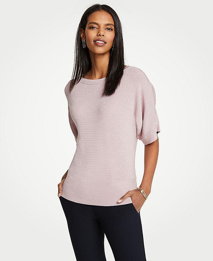 Stitched Short Sleeve Sweater | Tuggl