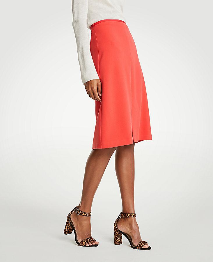 Petite Doubleweave A-Line Skirt
