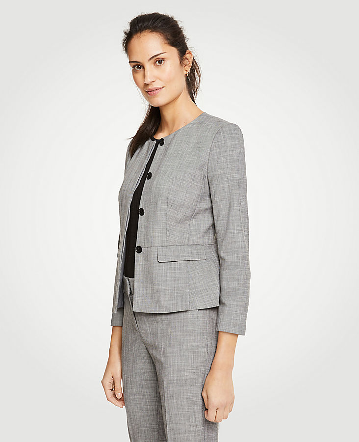 Tall Crosshatch Peplum Jacket | Tuggl