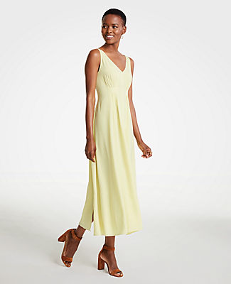 Ann Taylor Breezy V-Neck Midi Dress 25357615