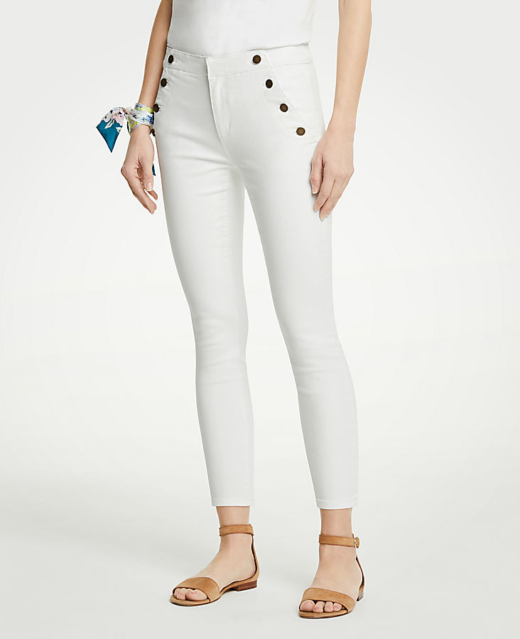 Sailor Skinny Crop Jeans | Tuggl