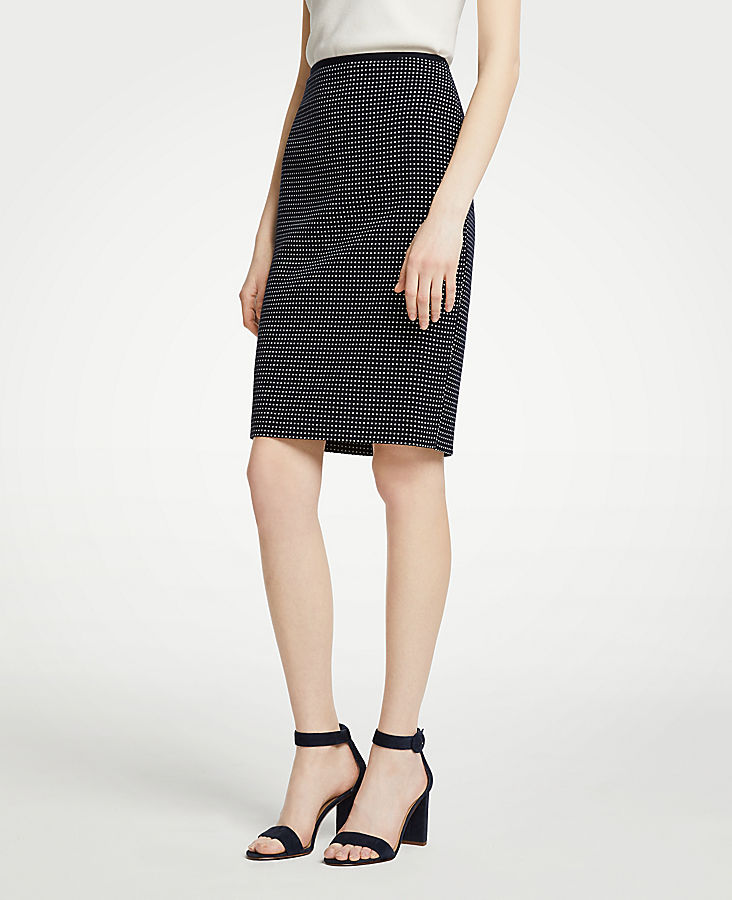 Geo Check Pencil Skirt | Tuggl