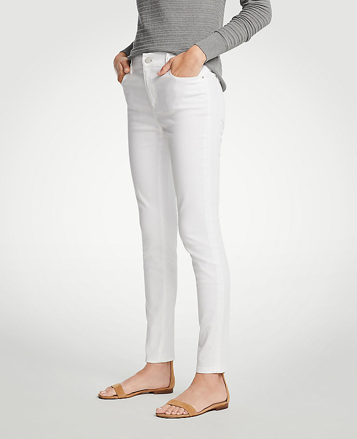 Petite Modern All Day Skinny Jeans In White | Tuggl