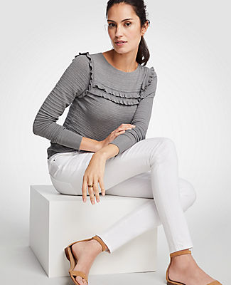 Ann Taylor Petite Curvy All Day Skinny Jeans In White 24615297