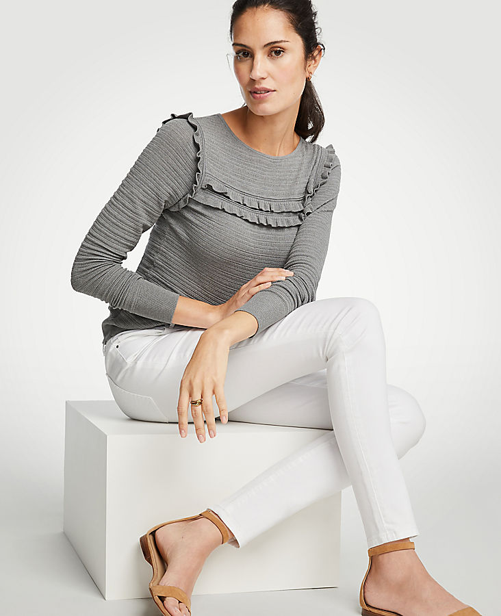 Petite Curvy All Day Skinny Jeans In White