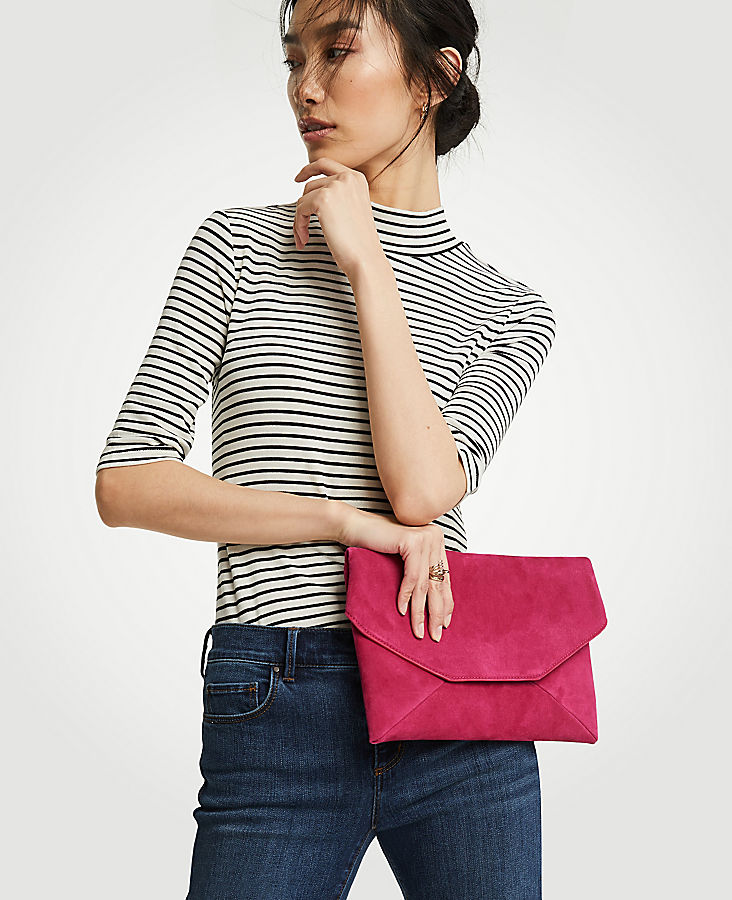 Suede Envelope Clutch | Tuggl