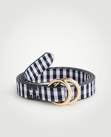 Double Ring Gingham Belt