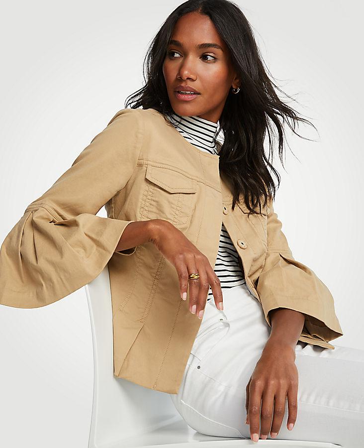 Tall Twill Flounce Sleeve Jacket | Tuggl