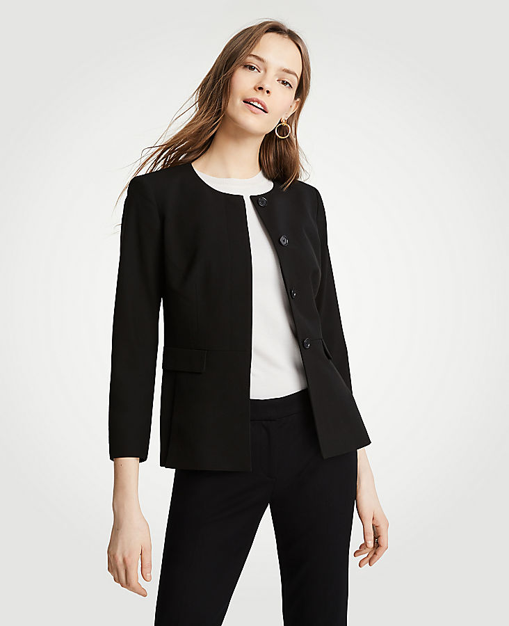 Petite Seasonless Stretch Peplum Jacket | Tuggl