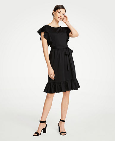 Tie Waist Flutter Dress
