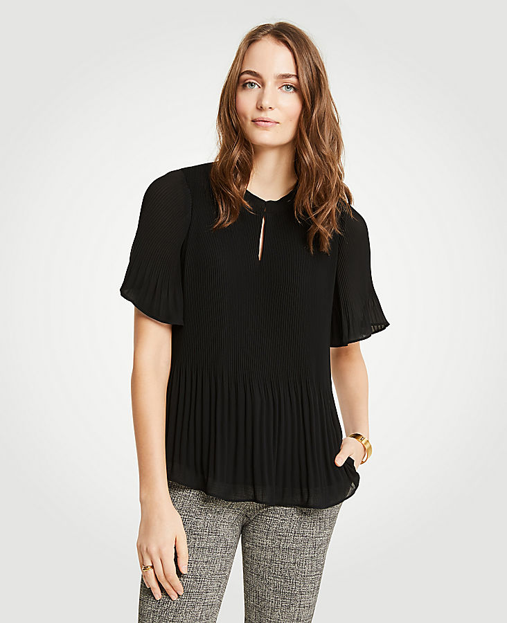 Petite Micro Pleat Top