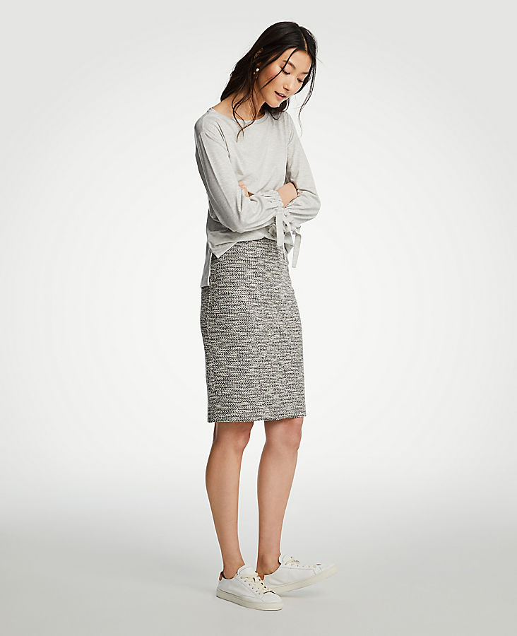 Marled Knit Pencil Skirt | Tuggl