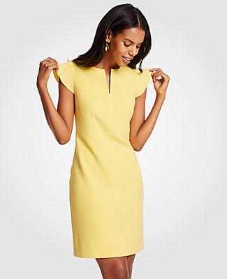 Ann Taylor Tall Flutter Sheath Dress 24863018