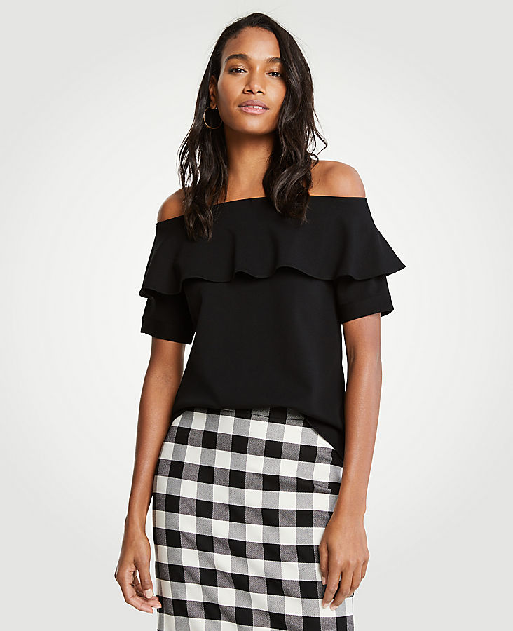 Off The Shoulder Ruffle Top | Tuggl