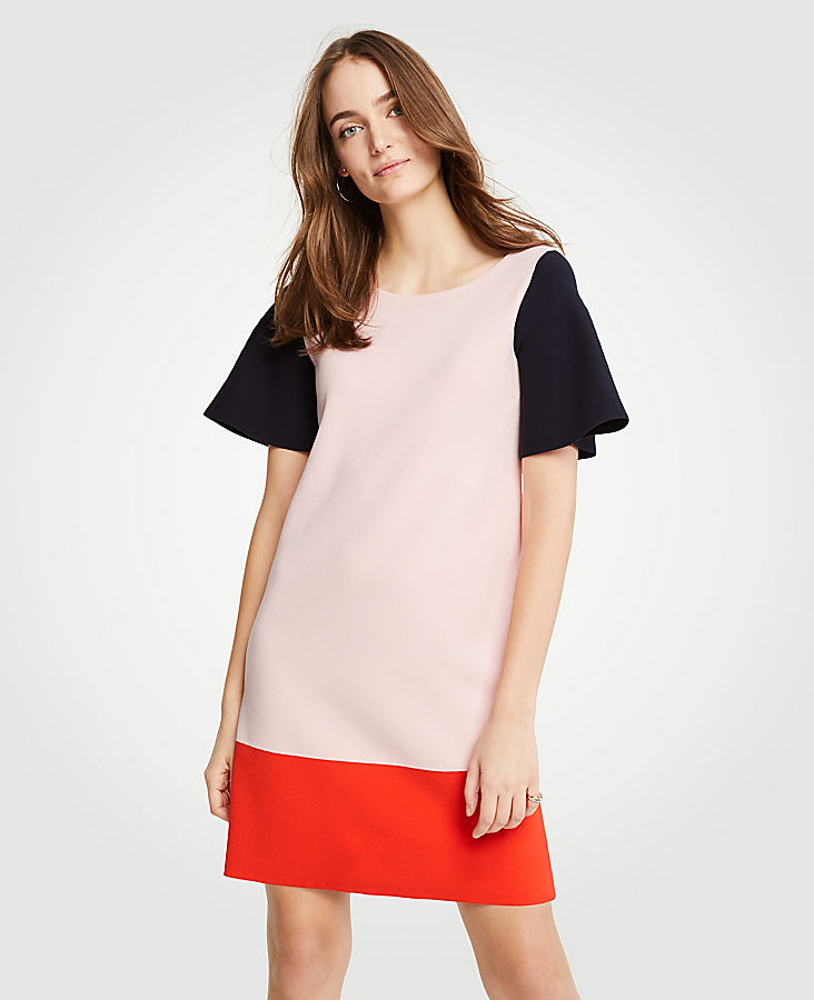 Petite Colorblock Sweater Shift Dress