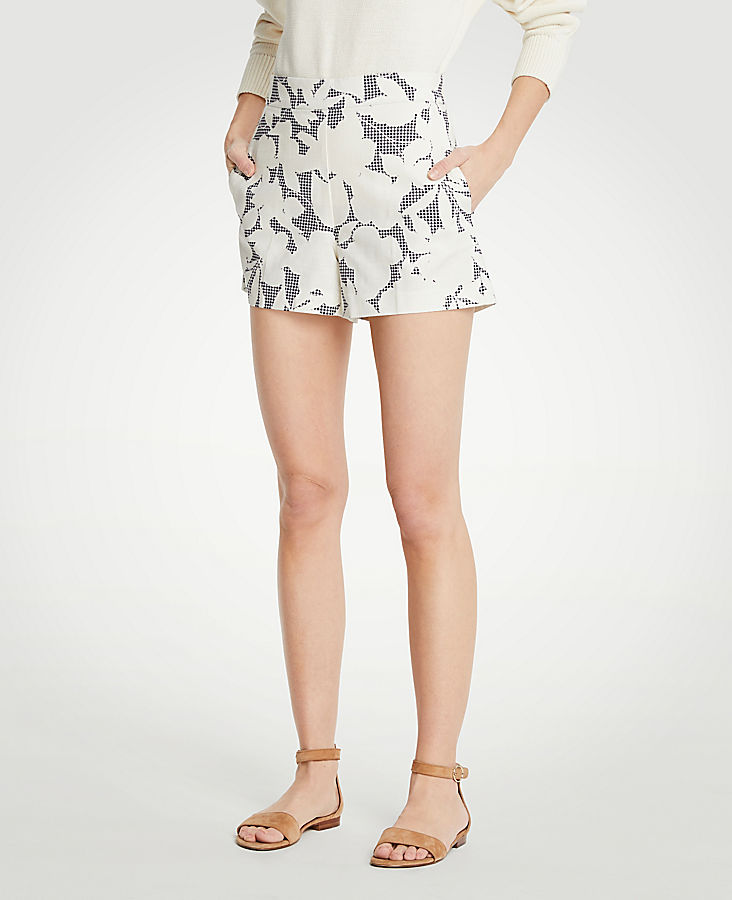 Petite Shadowed Floral Shorts