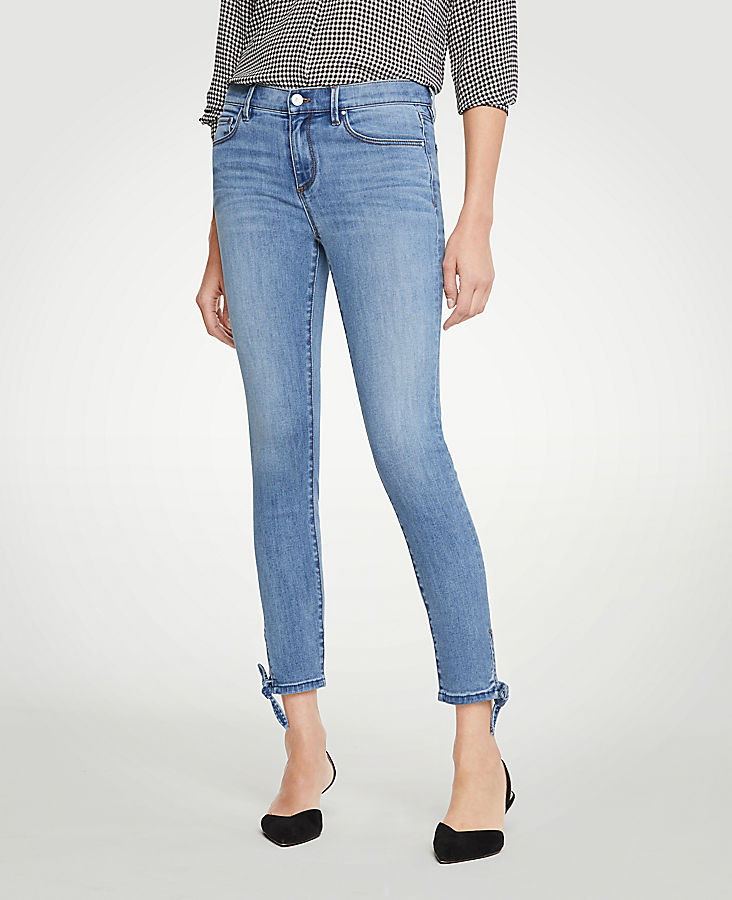 Petite Modern Ankle Tie All Day Skinny Crop Jeans | Tuggl