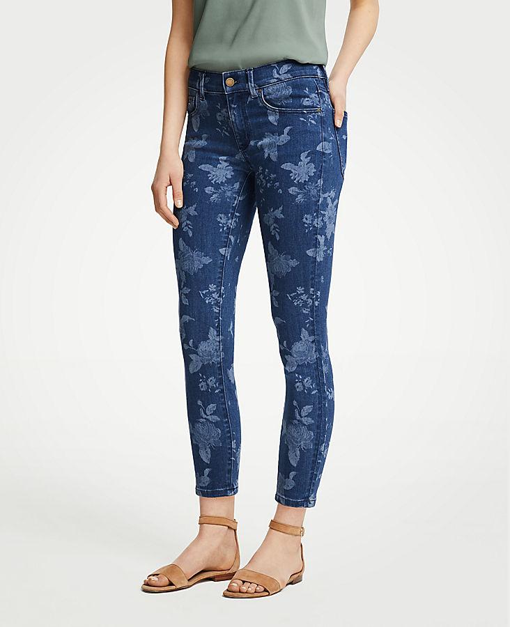 Petite Modern Island Floral Skinny Crop Jeans | Tuggl