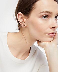 ANN TAYLOR Clover Stud Earrings QHCgGU