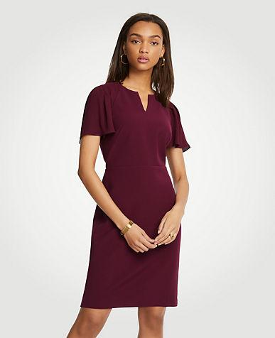 Red long sleeve dress uk vs usa