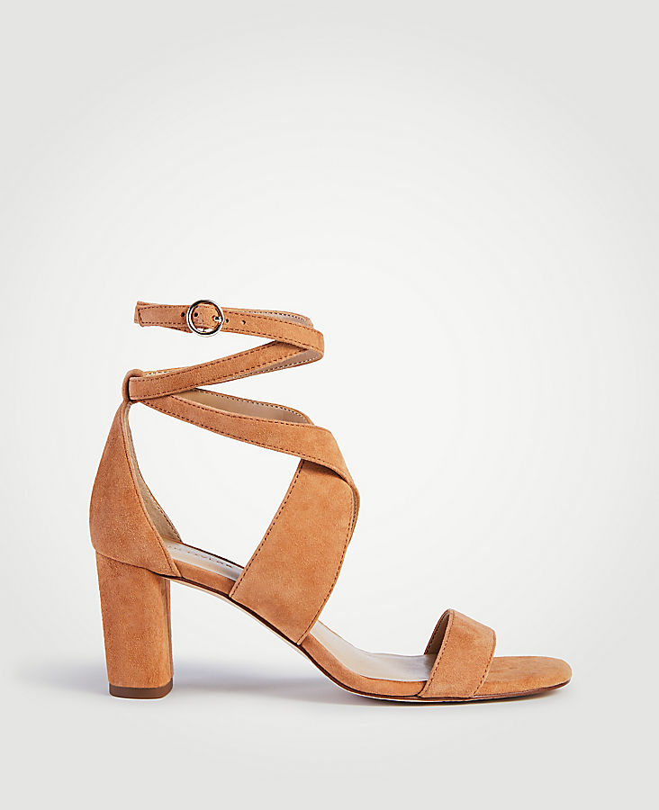 Outta-Town Suede Slingback Block Heel Sandals