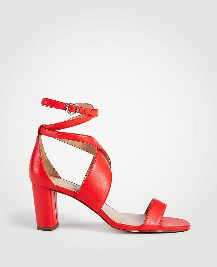 Corrine Leather Block Heel Sandals | Tuggl