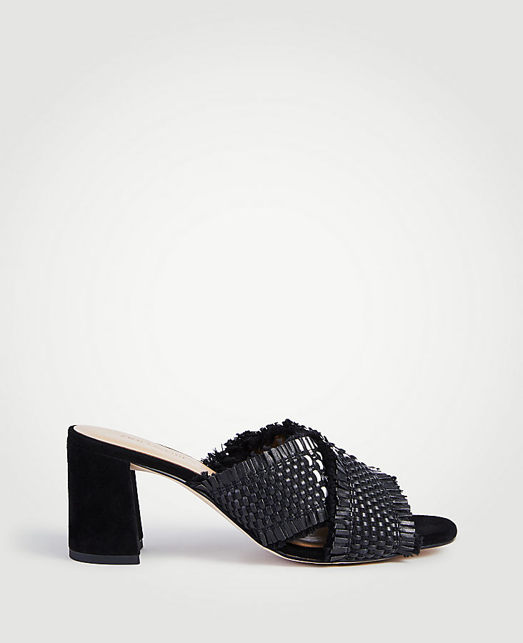 ANN TAYLOR Jimena Woven Block Heel Sandals uWv8MfVz