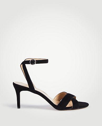 ANN TAYLOR Annalise Ribbon Heeled Sandals