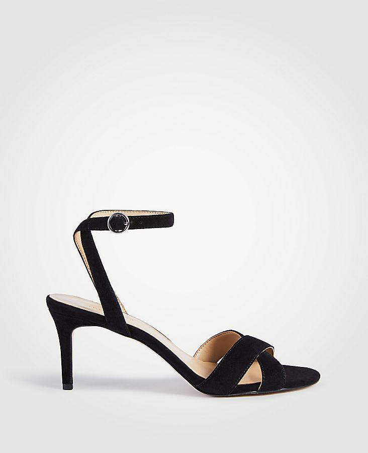 Judith Suede Kitten Heeled Sandals | Tuggl