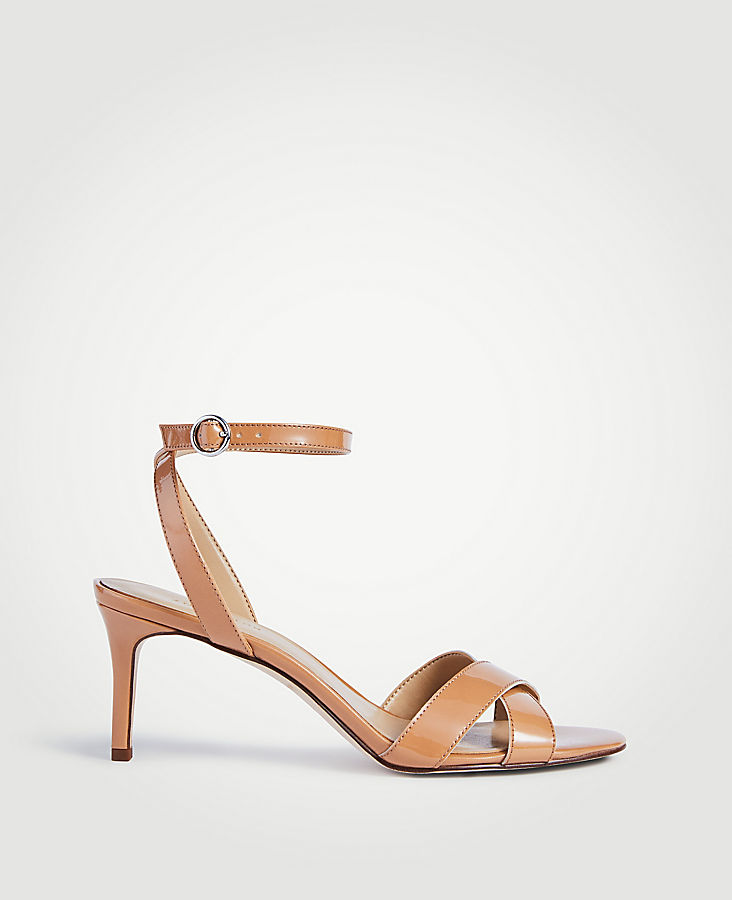 Judith Patent Leather Kitten Heeled Sandals | Tuggl