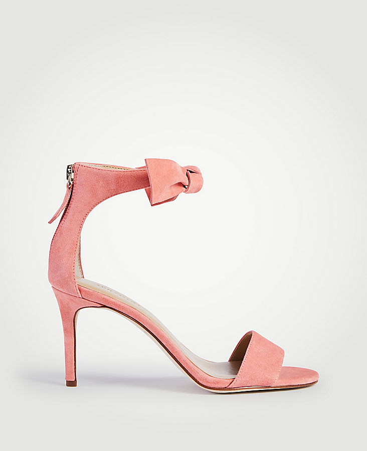 Rosalyn Suede Leaf Heeled Sandals | Tuggl