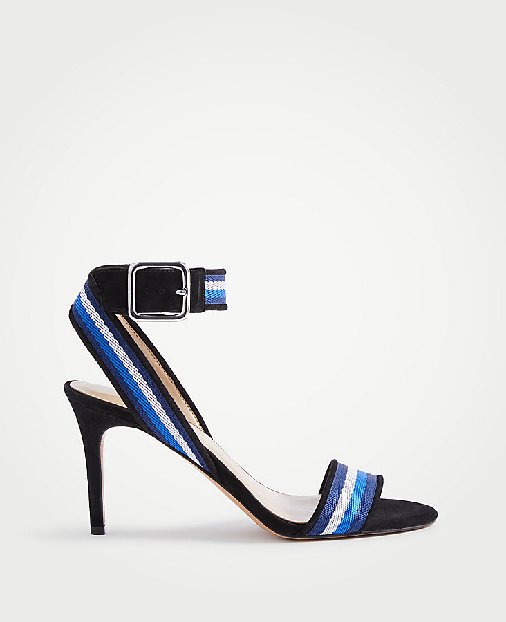 ANN TAYLOR Annalise Ribbon Heeled Sandals 2yuWgsnYT