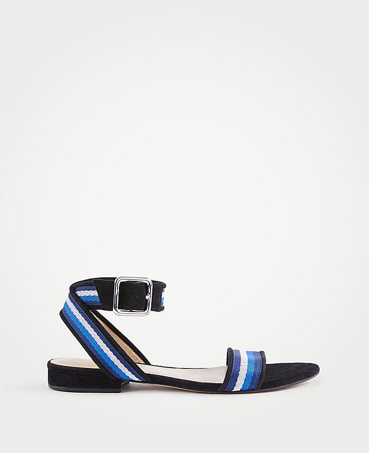 Arlene Ribbon Flat Sandals | Tuggl