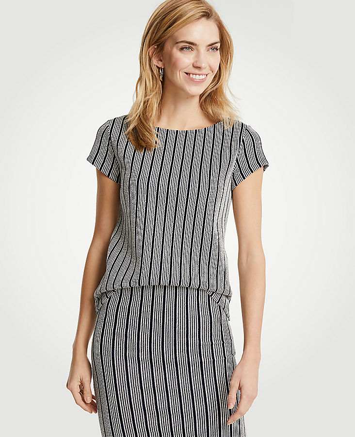 Striped Jacquard Top | Tuggl