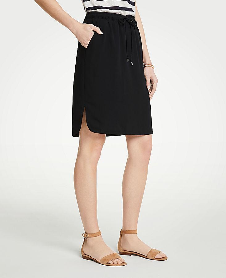 Petite Drawstring Jogger Skirt