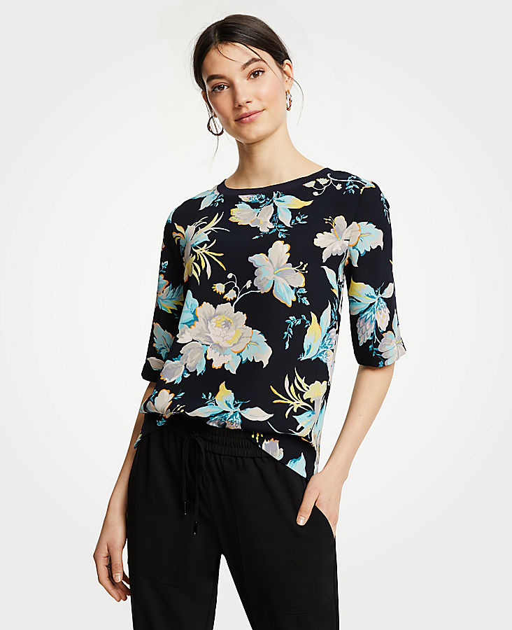 Easy Tee In Chinoiserie Tropics | Tuggl