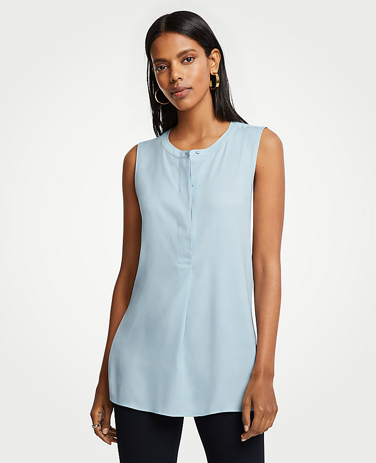 Henley Sleeveless Tunic | Tuggl
