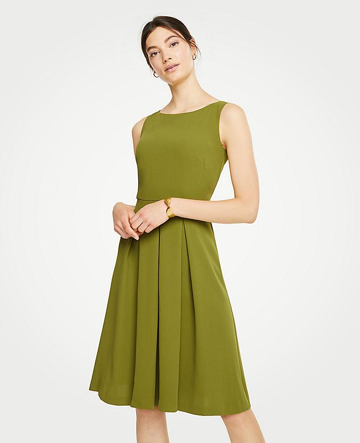 Pleated Flare Dress   Tuggl