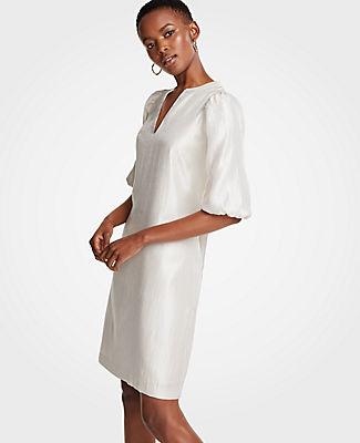 Ann Taylor Tall Puff Sleeve Shift Dress