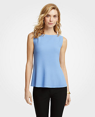 Ann Taylor Petite Stitched Sweater Shell 25053968