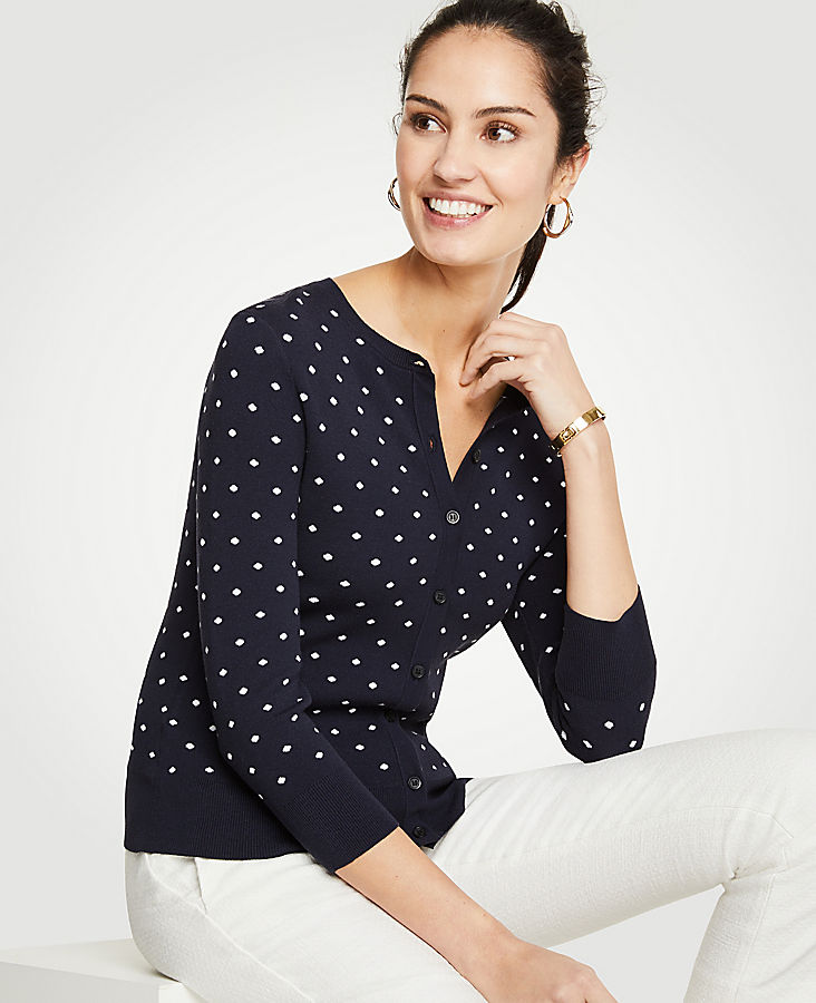 Petite Dotted Ann Cardigan