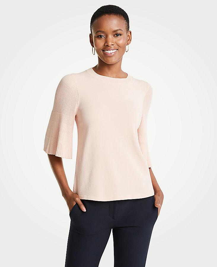 Pleated Sleeve Sweater | Tuggl