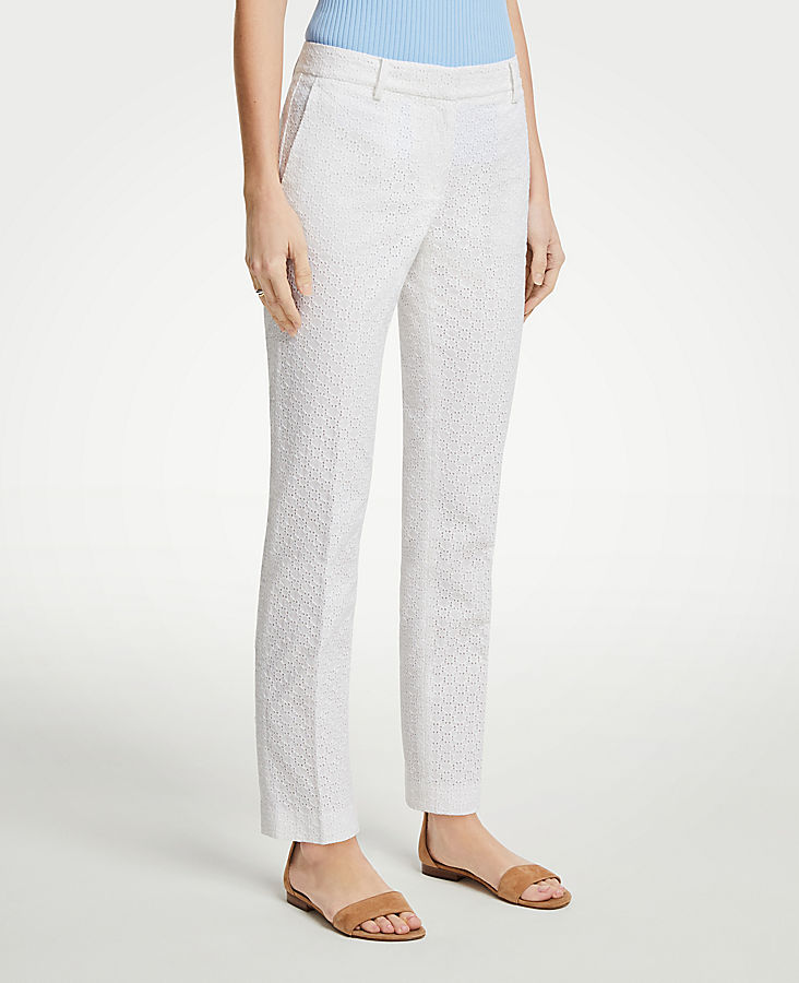 The Ankle Pant In Eyelet - Curvy Fit | Tuggl