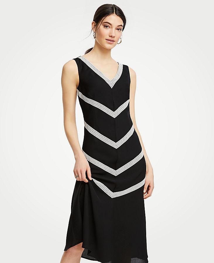 Petite Lace Inset Midi Dress