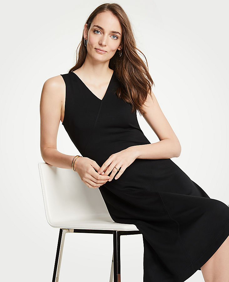 Seamed Midi Dress at Ann Taylor in Victor, NY | Tuggl